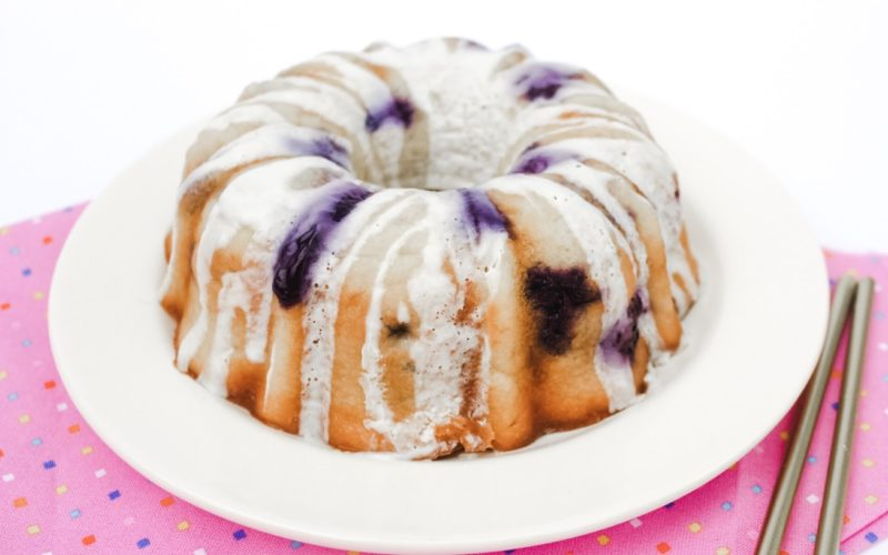 Rosie's 2nd Birthday Blueberry & Banana Bundt Cake